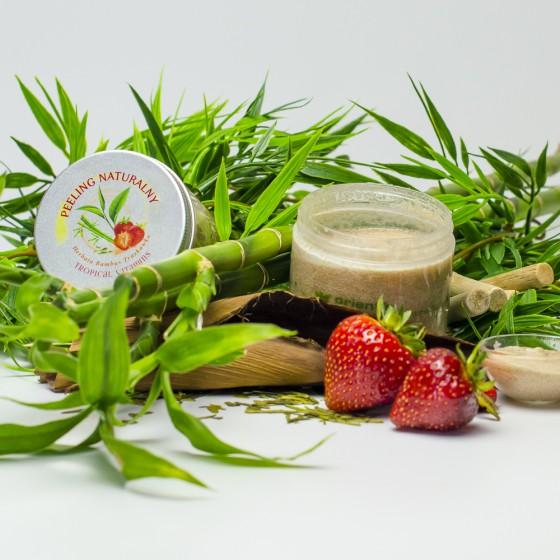 Peeling naturalny Herbata bambus truskawka
