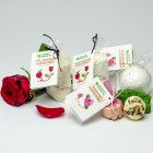 Mleko kąpielowe z solą morską Czerwona róża