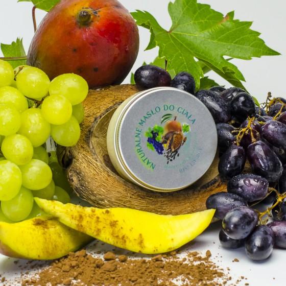 Masło naturalne do ciała Mango, kakao i winogrono