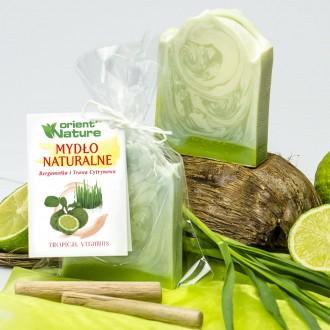 Mydło naturalne Bergamotka i trawa cytrynowa